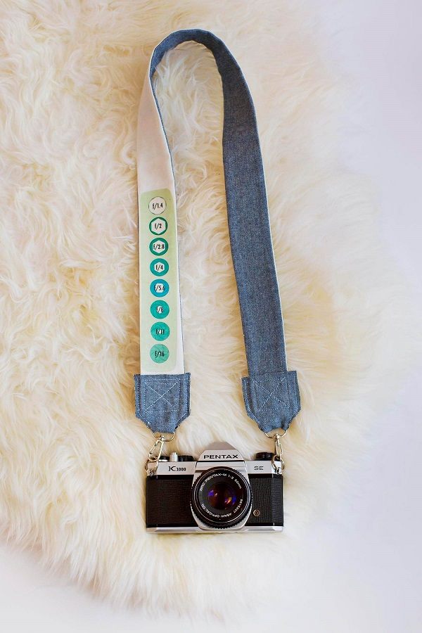 Tutorial: Camera strap with custom print fabric