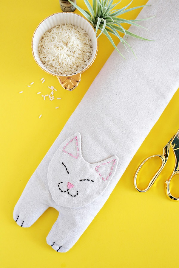 Tutorial and pattern: Kitty cat heating pack
