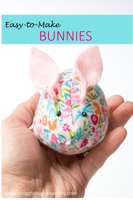 Tutorial and pattern: Easy bunny softie you can make with the kids