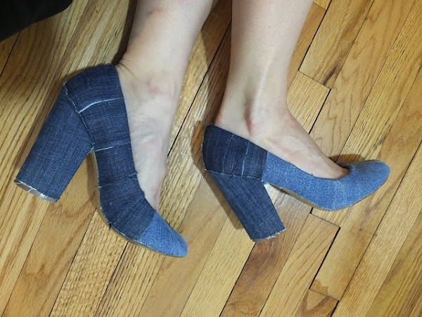 Tutorial: Denim covered shoes