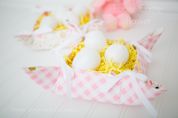 Tutorial: Easy fabric Easter basket