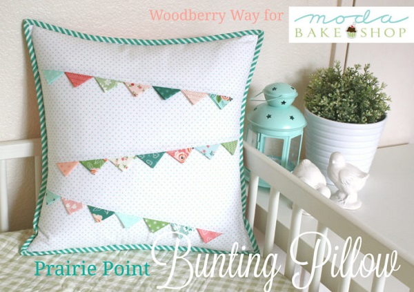 Tutorial: Bunting pillow with prairie points