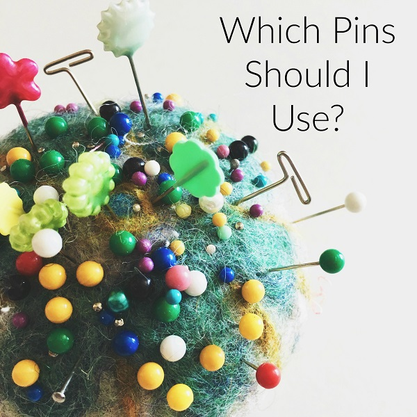Types of sewing pins and when to use them