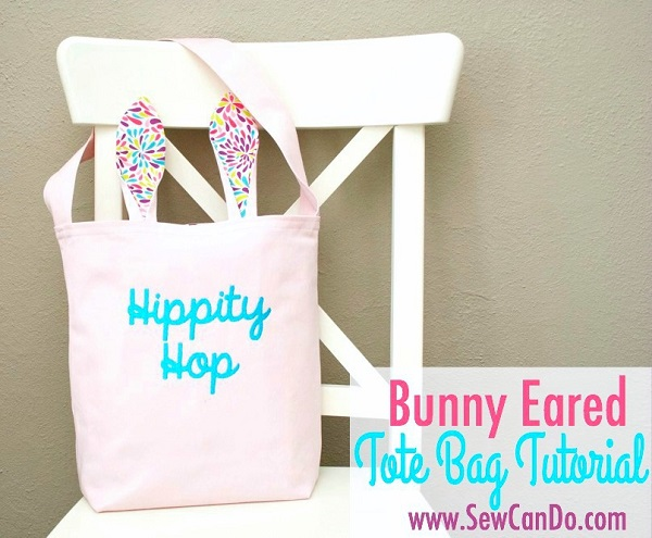 Tutorial and pattern: Bunny ear tote bag