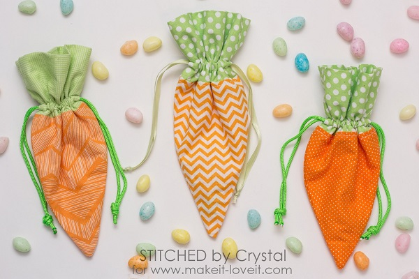 Tutorial: Easter carrot treat pouch