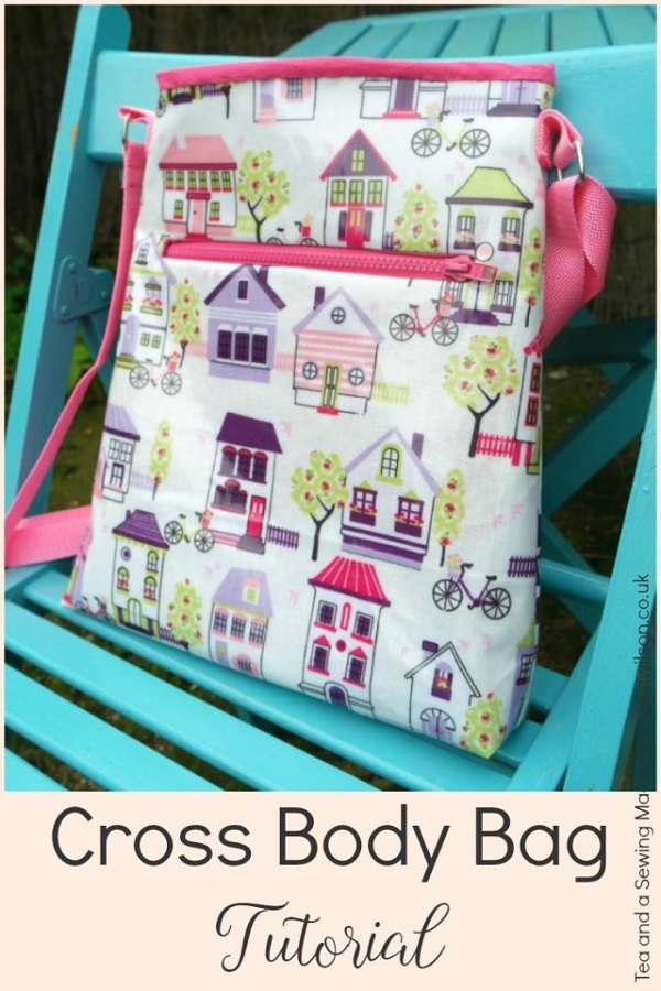 Tutorial Cross Body Tote Bag Sewing