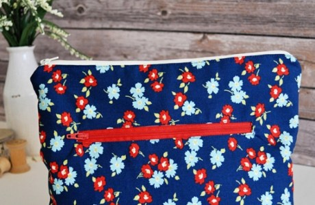 Tutorial: Zip pouch with a front zip pocket