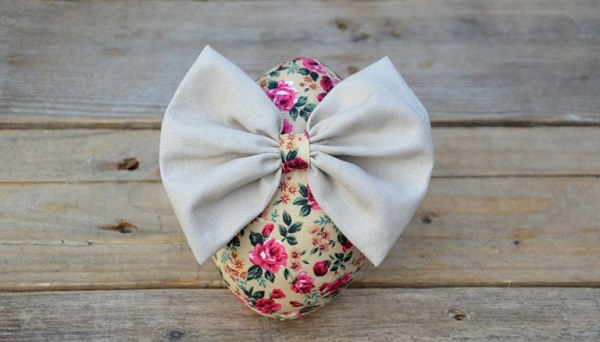Tutorial: Fabric bow Easter eggs