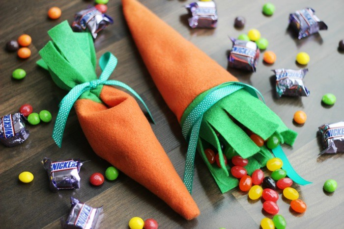 Tutorial Felt carrot treat pouch