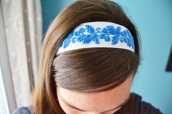 Tutorial: No-sew ribbon headband