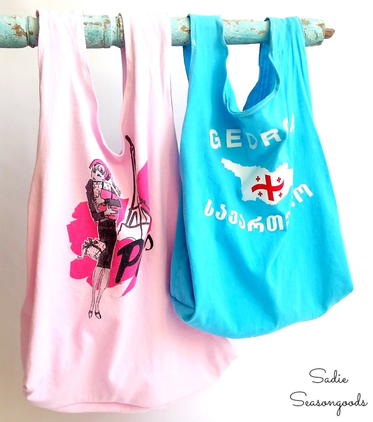 Tutorial Reusable Produce Bag From A T Shirt Sewing