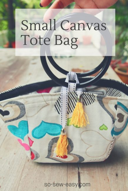 Tutorial and pattern: Small canvas bag for summer