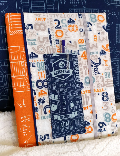 Fabric Book Cover With Pocket : Tutorial composition book cover with a pencil pocket sewing