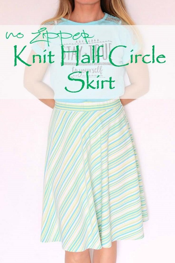 Tutorial: Easy half circle skirt from knit fabric