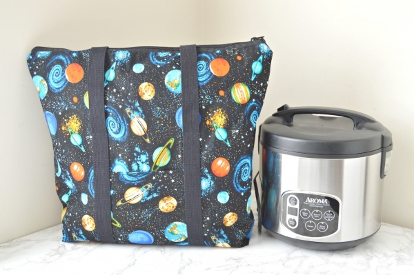 Tutorial: Zip top insulated tote bag