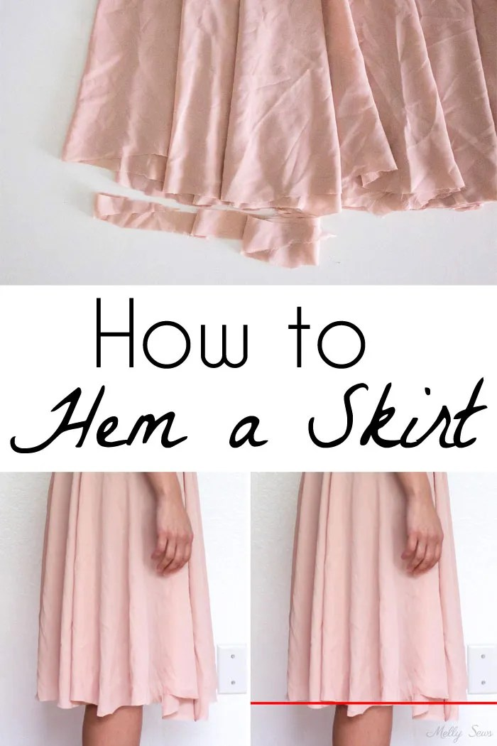Tutorial: How to mark and cut an even hem