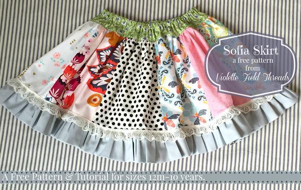 Tutorial: Ruffled patchwork twirly skirt