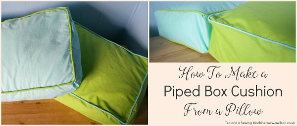 Tutorial Box Cushions With Piping Sewing