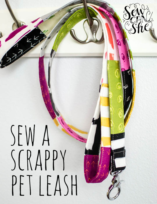 Tutorial: Scrappy patchwork pet leash