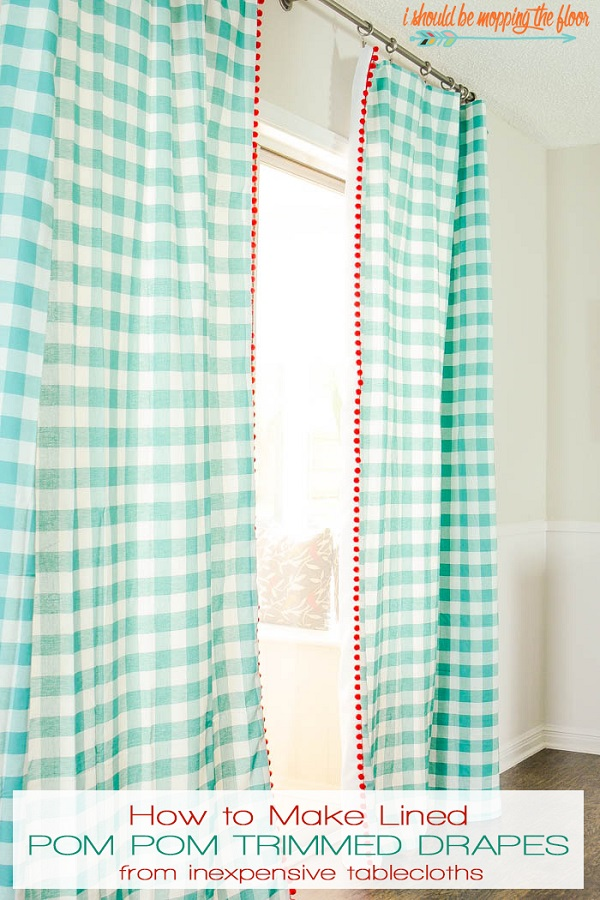 Tutorial Easy drapes from tablecloths