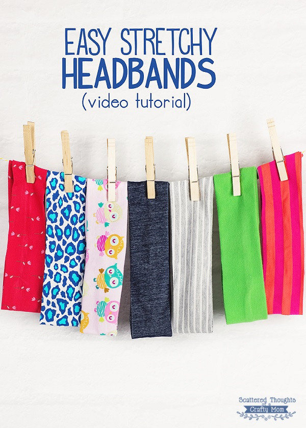 Tutorial Easy Stretchy Knit Headbands Sewing