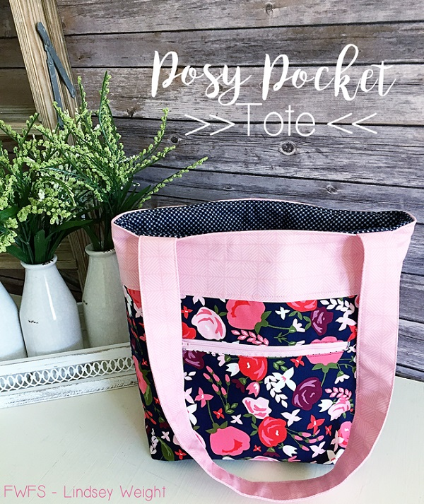 Tutorial: Posy Pocket Tote