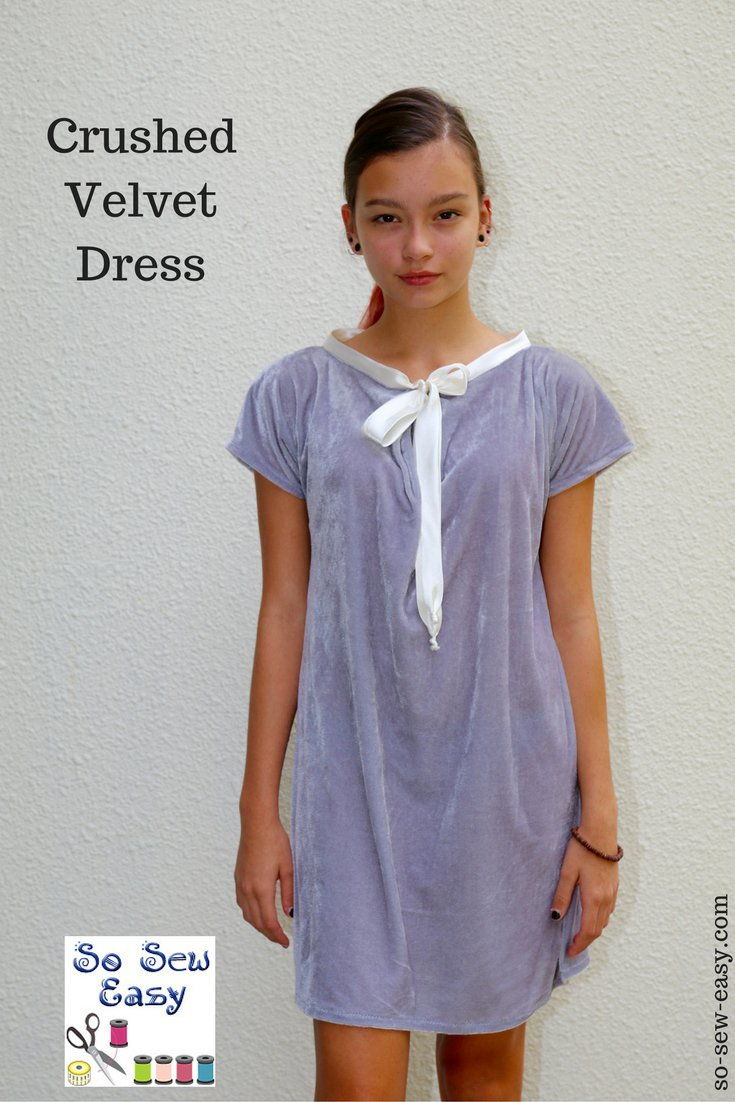 Tutorial and pattern: Crushed velvet dress