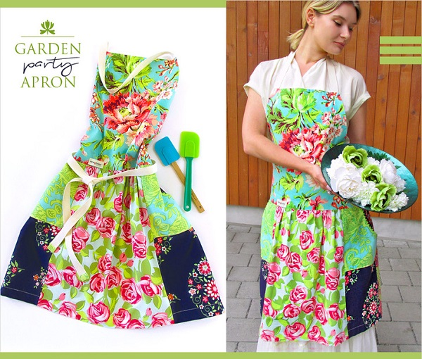 Tutorial: Fat Quarter Garden Party Apron