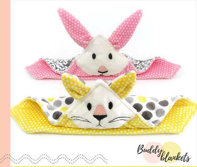 Tutorial and pattern: Animal Buddy Blanket for kids