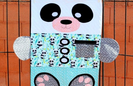 Tutorial and pattern: Panda-monium toddler quilt