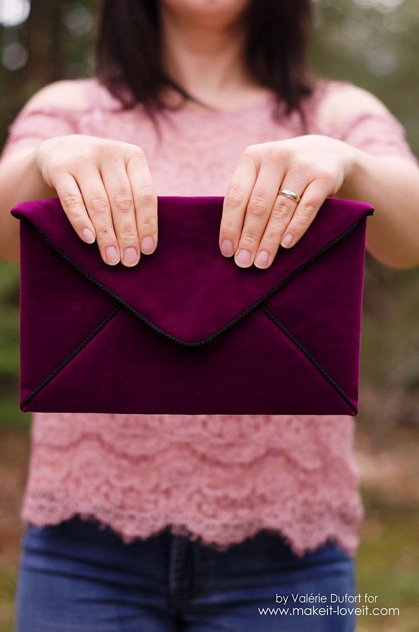 Tutorial: Velour envelope clutch purse