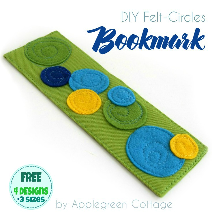 Tutorial: Fabric bookmark with felt circle appliques