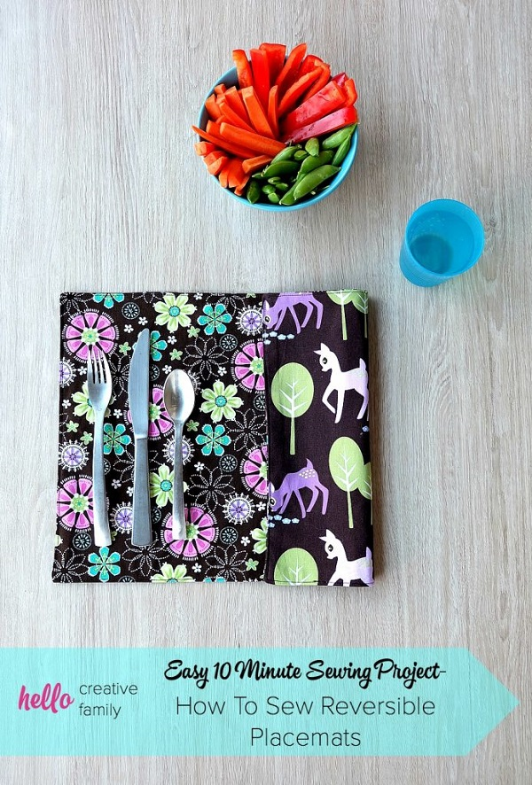 Tutorial: 10 minute reversible placemats