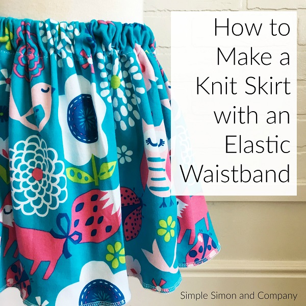 Tutorial: Elastic waistband knit skirt
