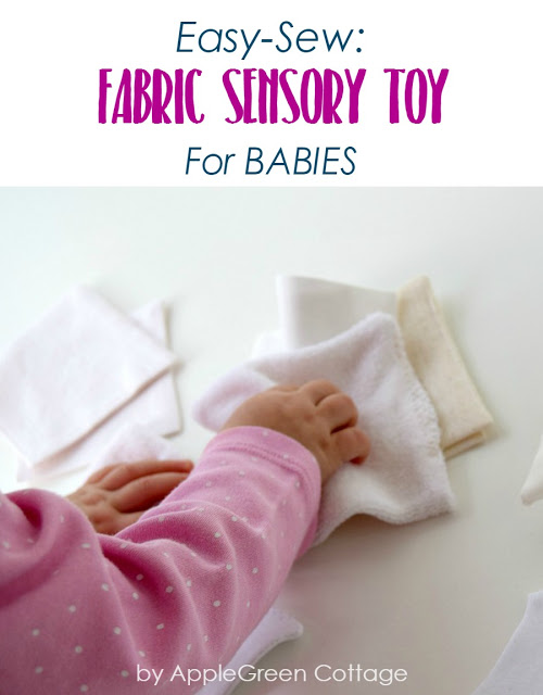 Tutorial: Fabric square texture sensory toy for baby