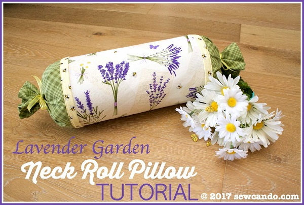 Tutorial: Lavender scented neck roll pillow