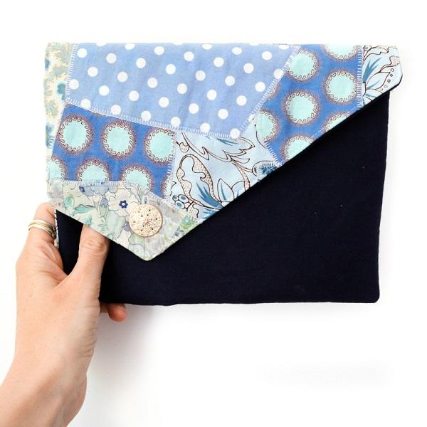 Tutorial: Fabric scrap clutch bag