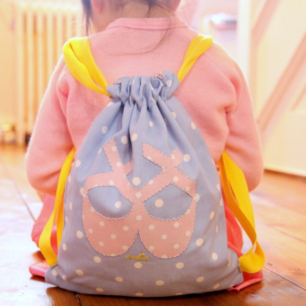 Tutorial: Drawstring ballet bag backpack