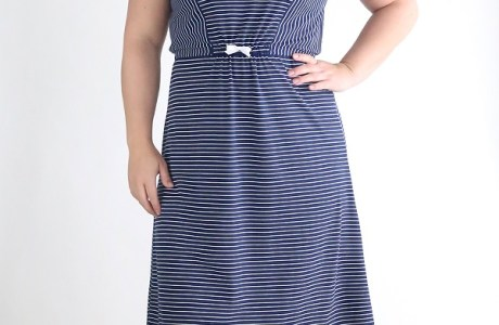 Tutorial and pattern: Striped midi t-shirt dress
