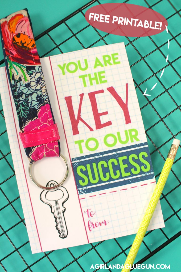 Tutorial: Key fob teacher gift, plus printable