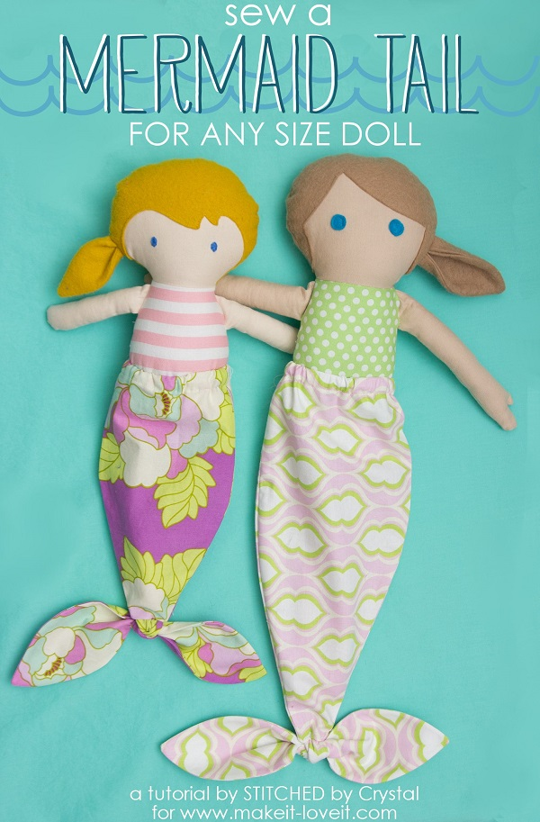 Tutorial: Mermaid tails for dolls