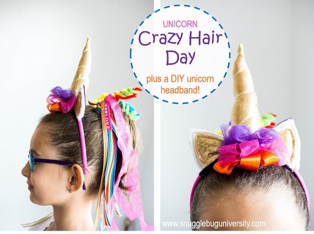 Tutorial Crazy Hair Day Unicorn Headband Sewing