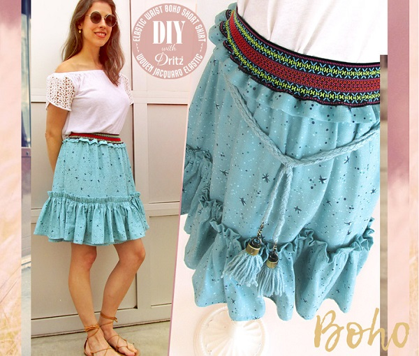 Tutorial: Boho short ruffle skirt