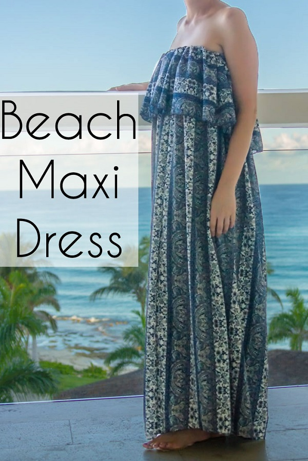 Tutorial: Strapless beach maxi dress