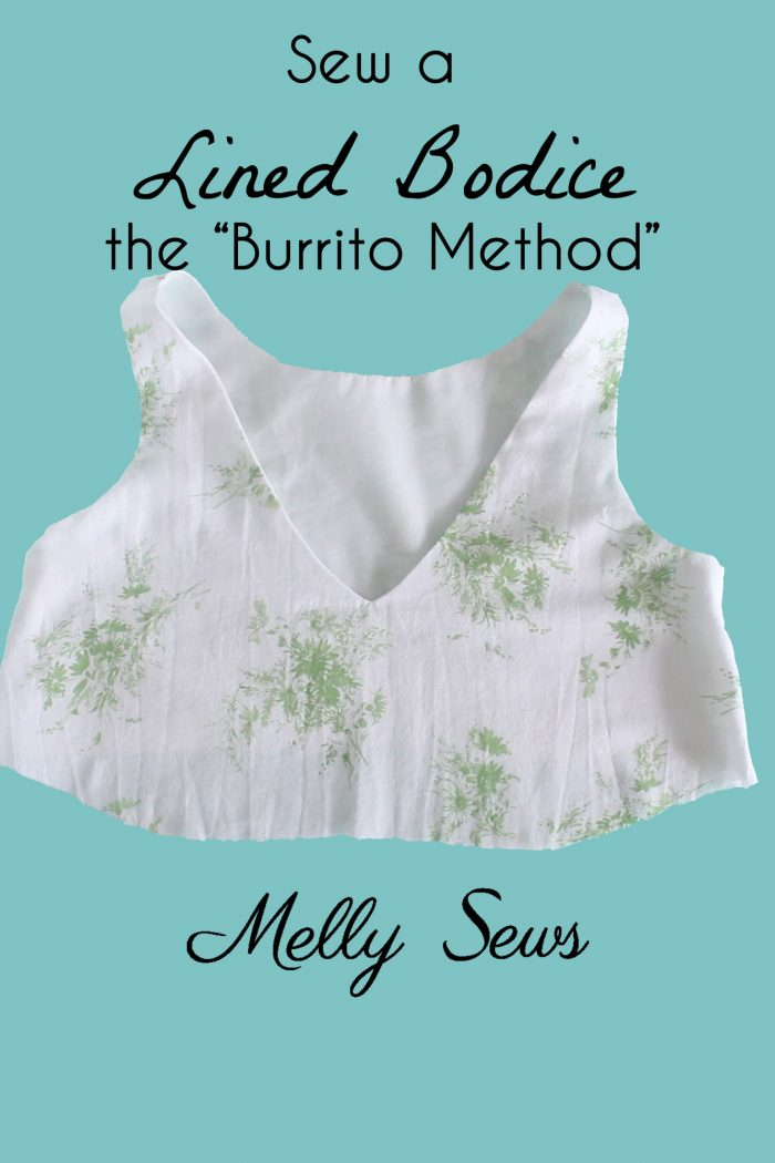 Tutorial: Burrito method for sewing a lined bodice