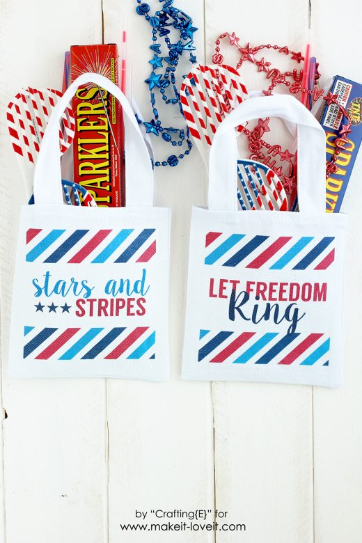 Tutorial: 4th of July parade bags, plus printable designs