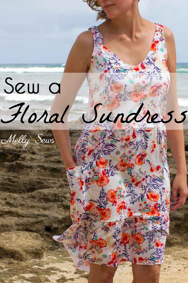 Tutorial and pattern: Floral summer sundress
