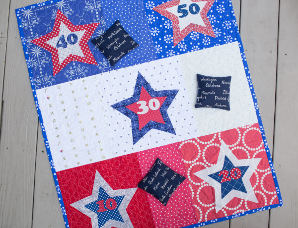 Tutorial: Star bean bag toss game for 4th of July
