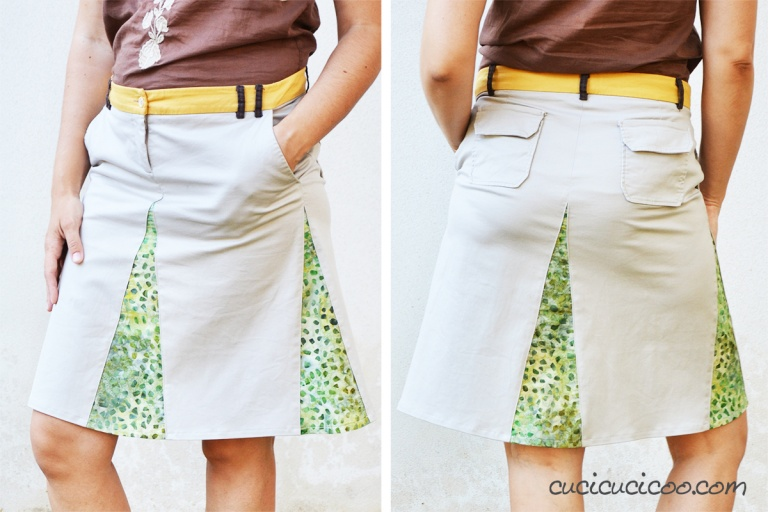 Tutorial: Turn your old shorts into an A-line skirt with godets