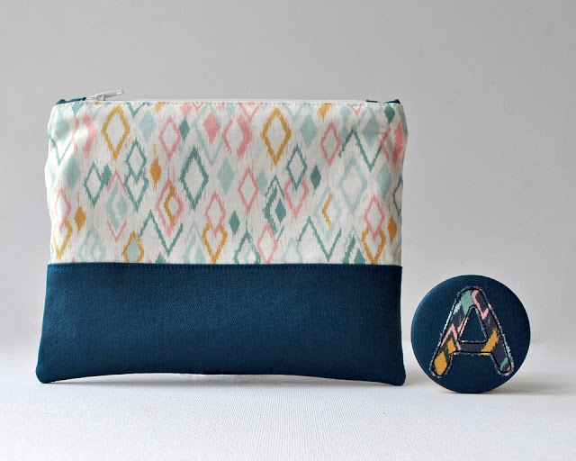 Tutorial: Sew a color block zip pouch
